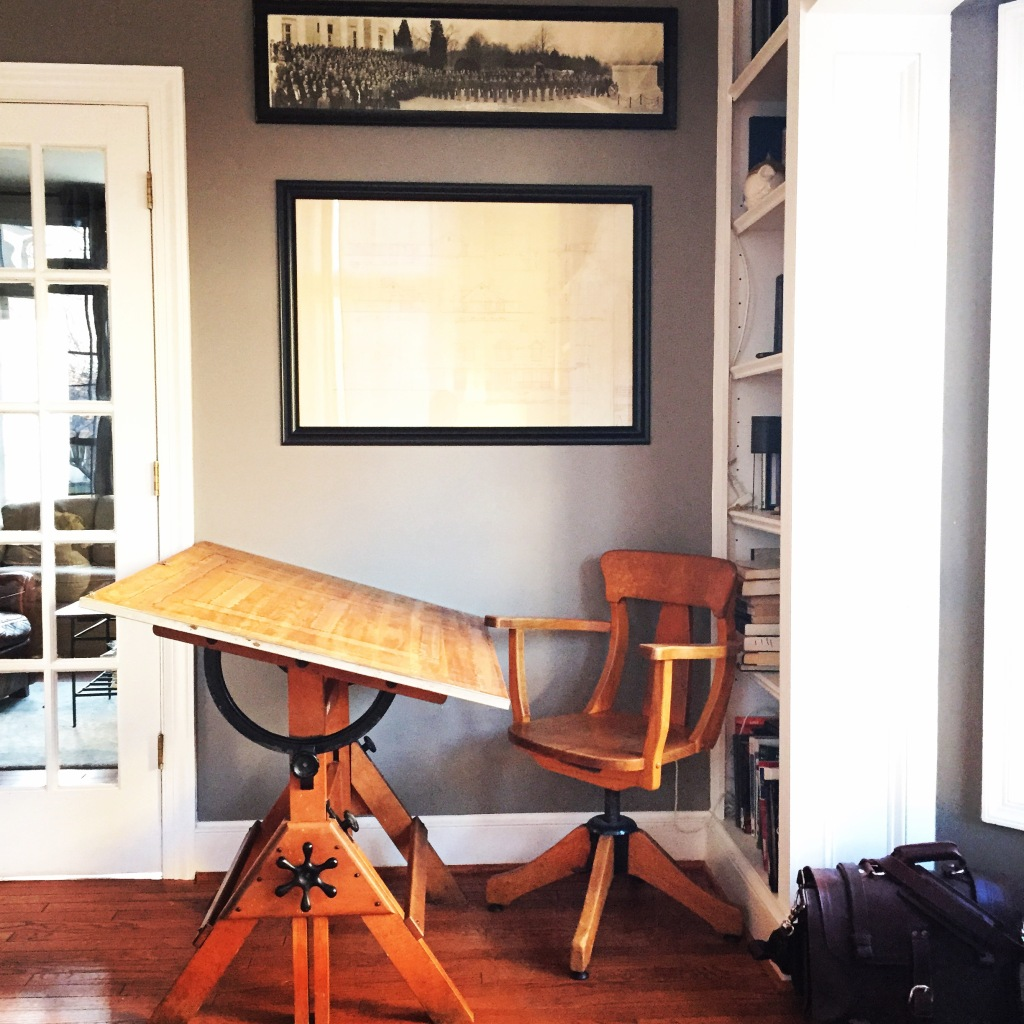 Sweet Hamilton drafting table and chair