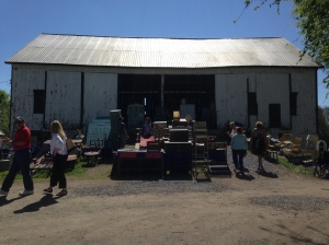 This giant barn is full of furniture -- many of which is unfinished or needs fixin' up -- awesome!